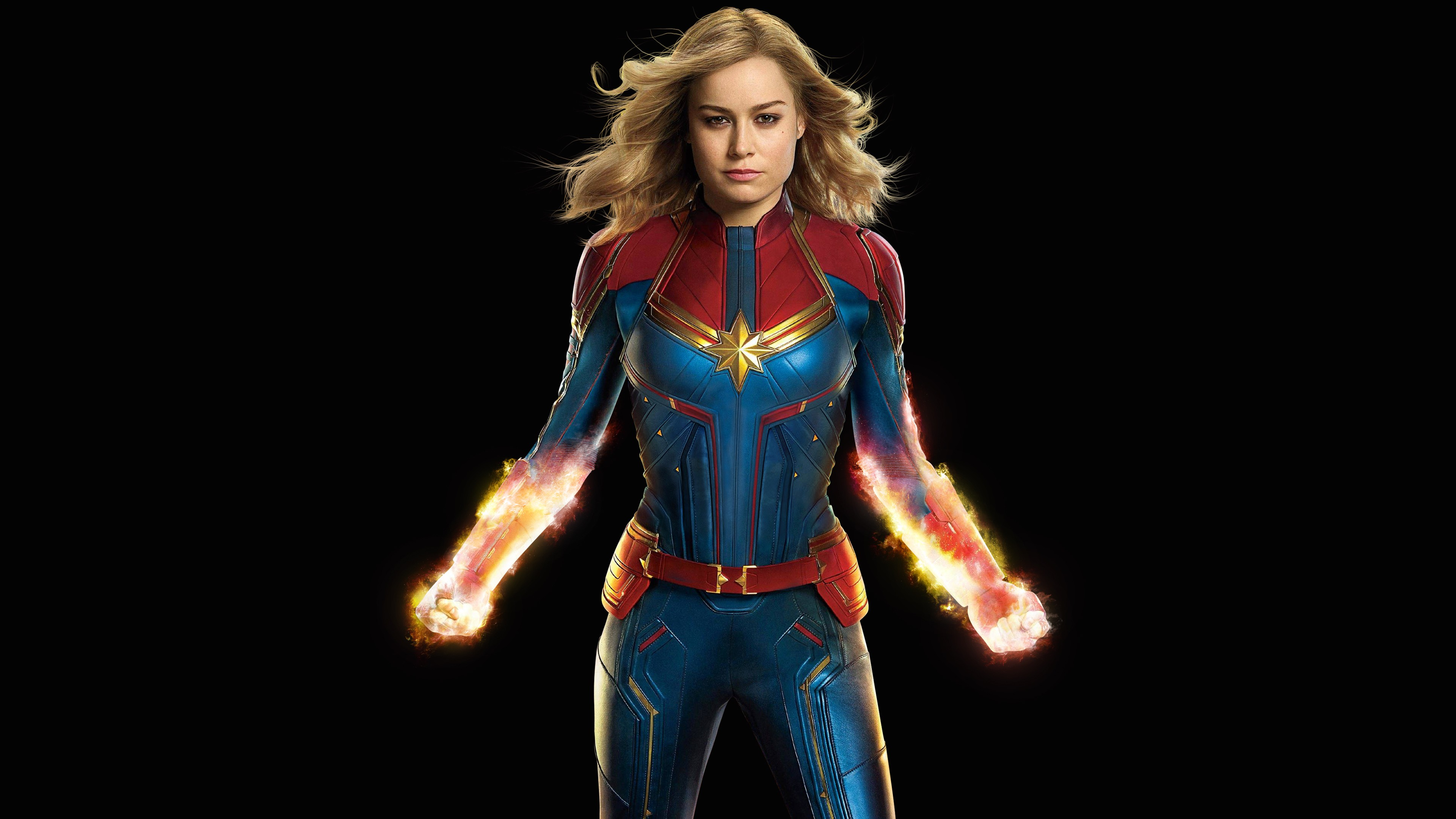 Brie Larson As Captain Marvel Desktop Wallpaper