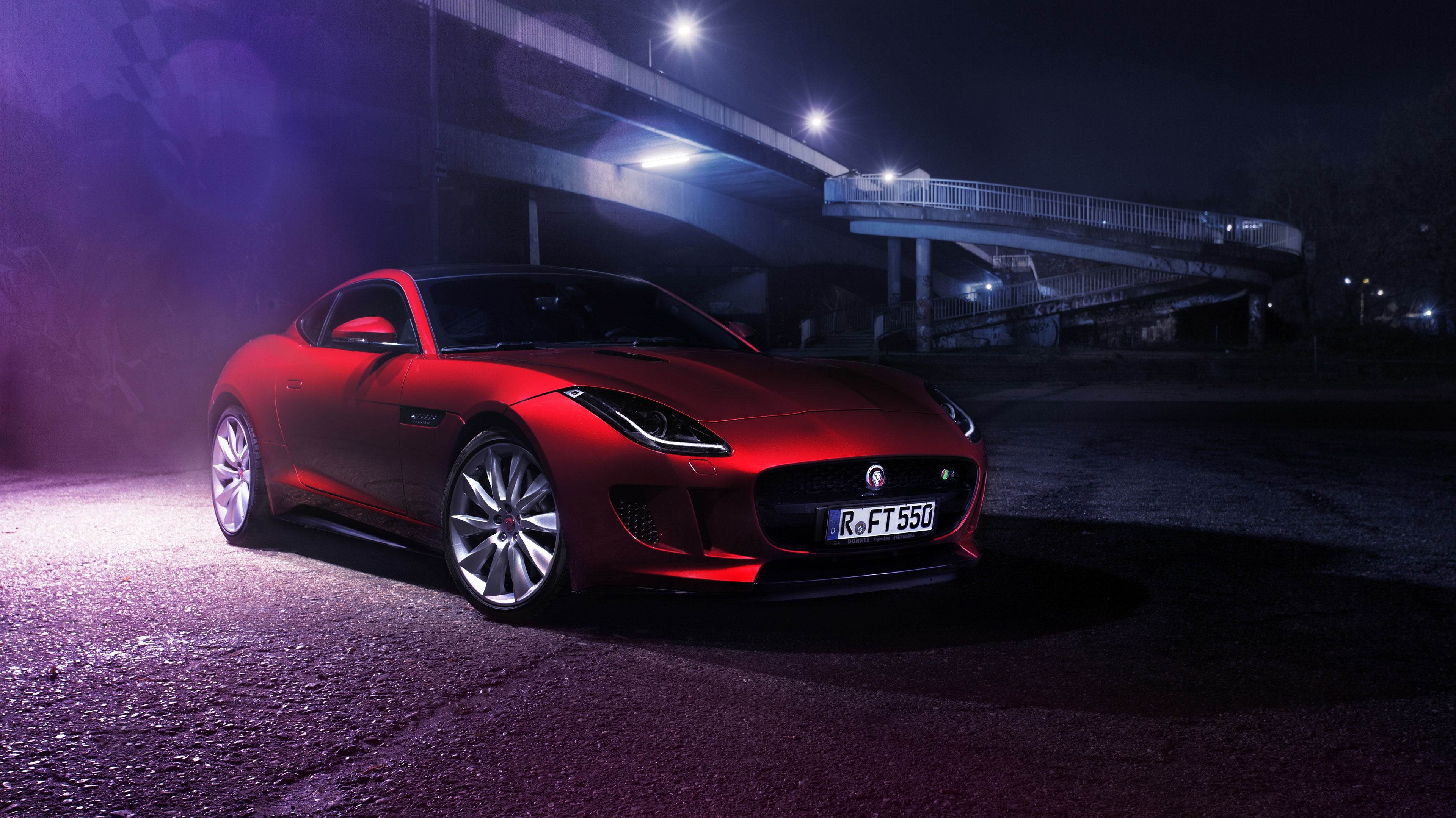 Red Jaguar F Type R Car Wallpaper