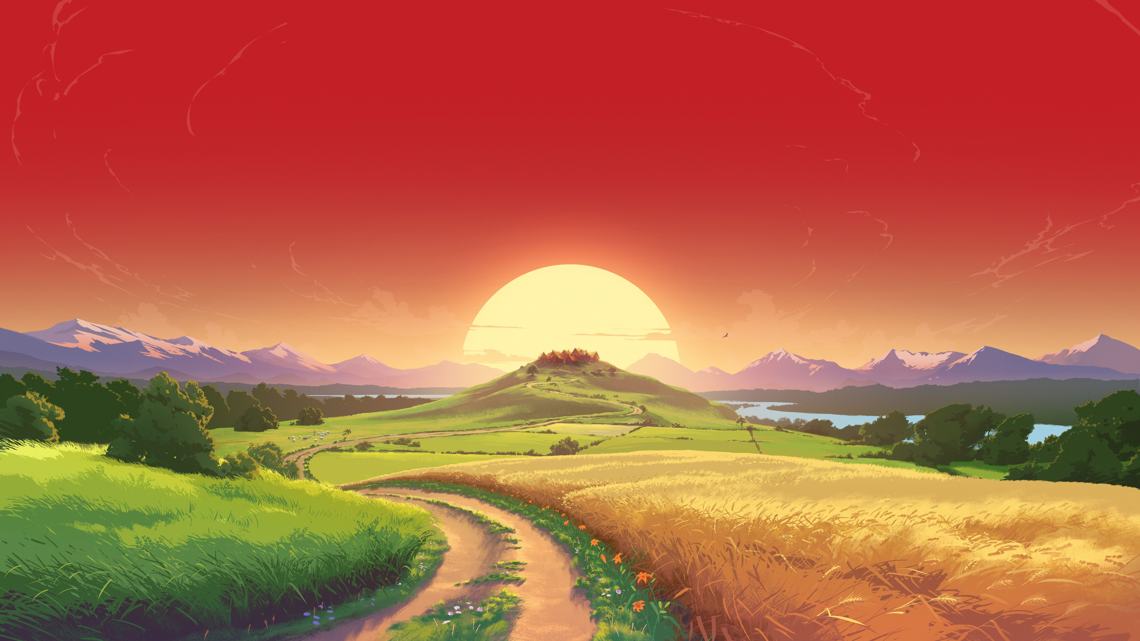 Amazing Landscape 4k Wallpaper Catan VR  Game