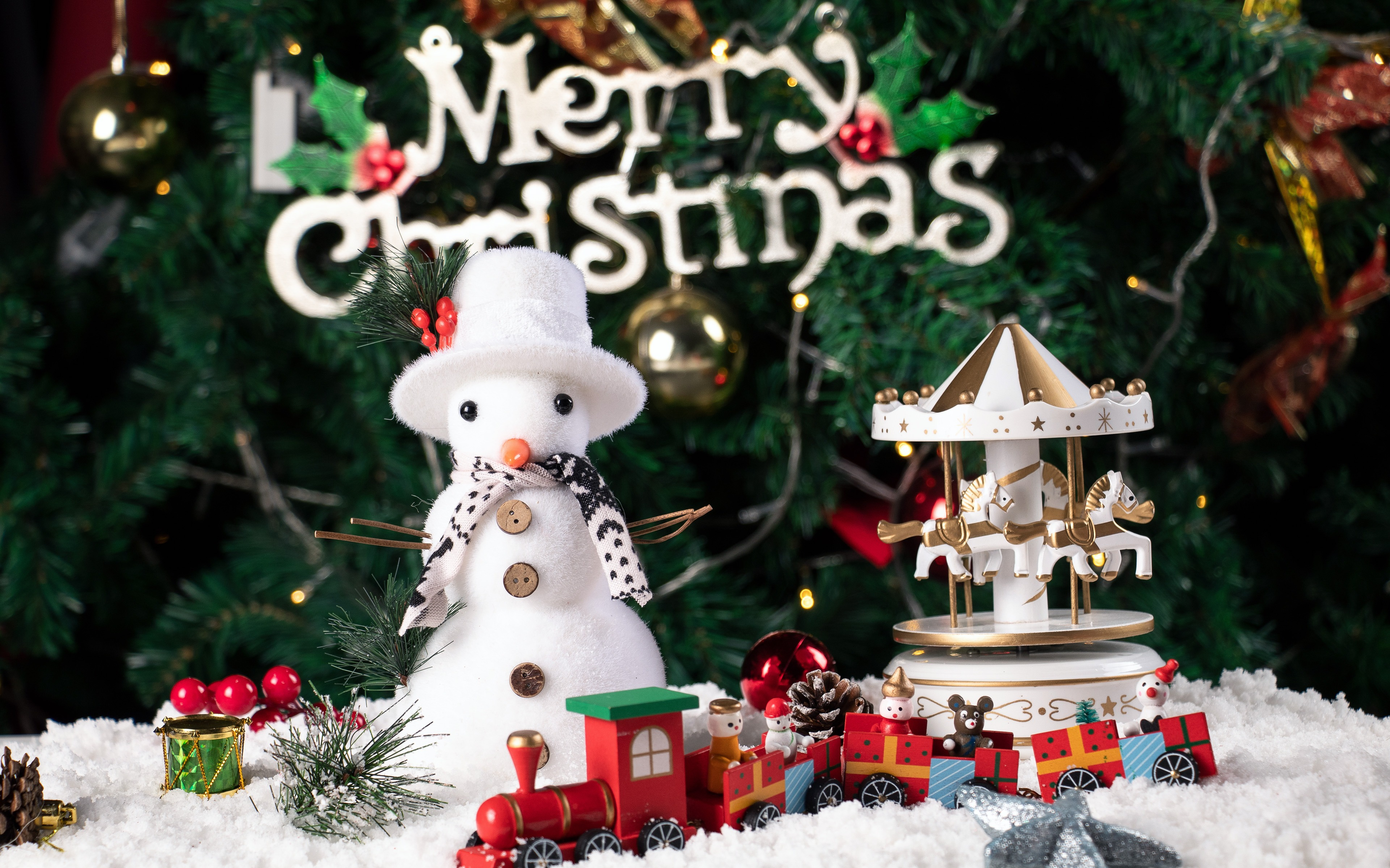 Merry Christmas Festive Season High Quality Wallpaper Resolution
