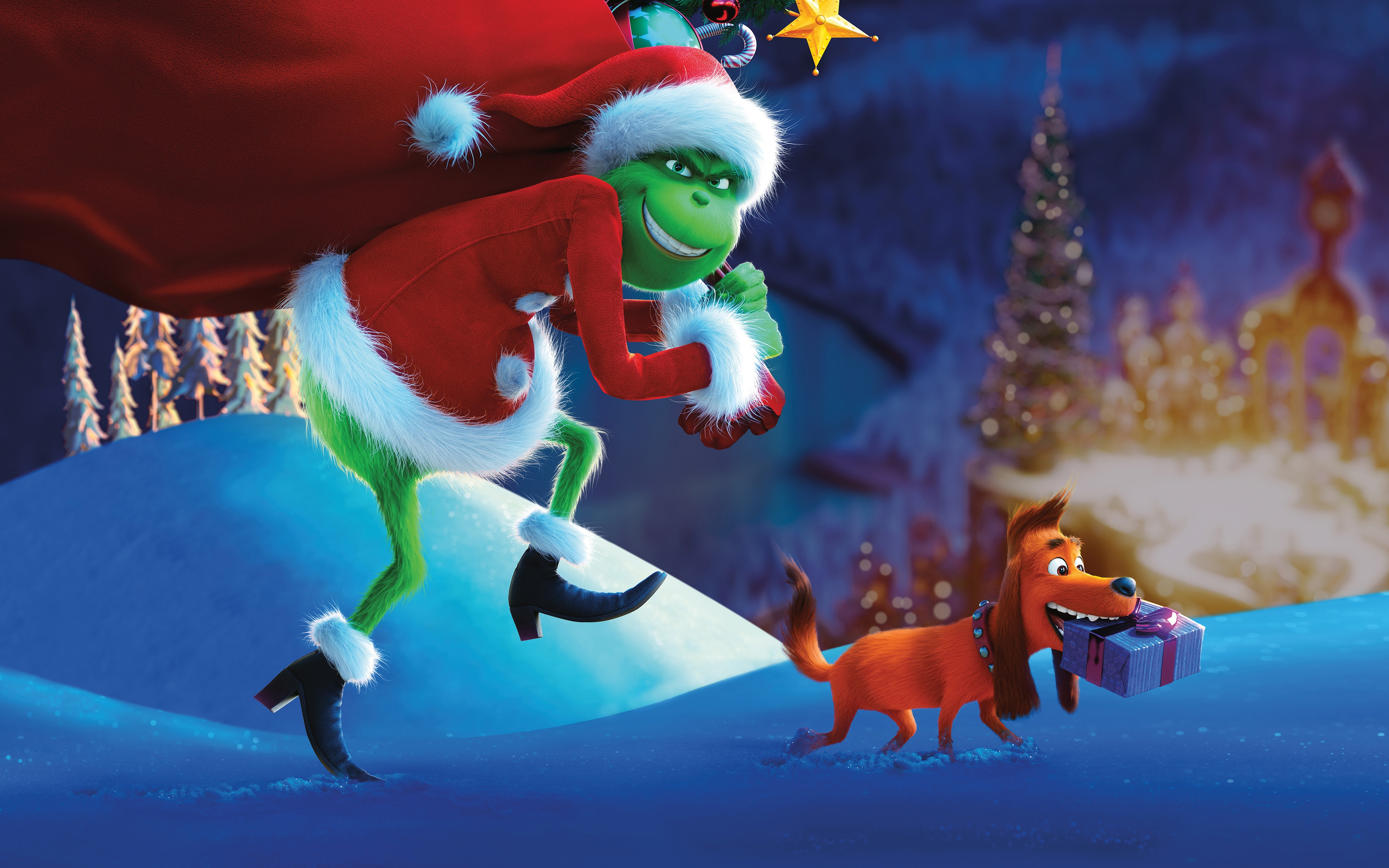 The Grinch 2018 New Animated Christmas Movie Wallpaper 4K