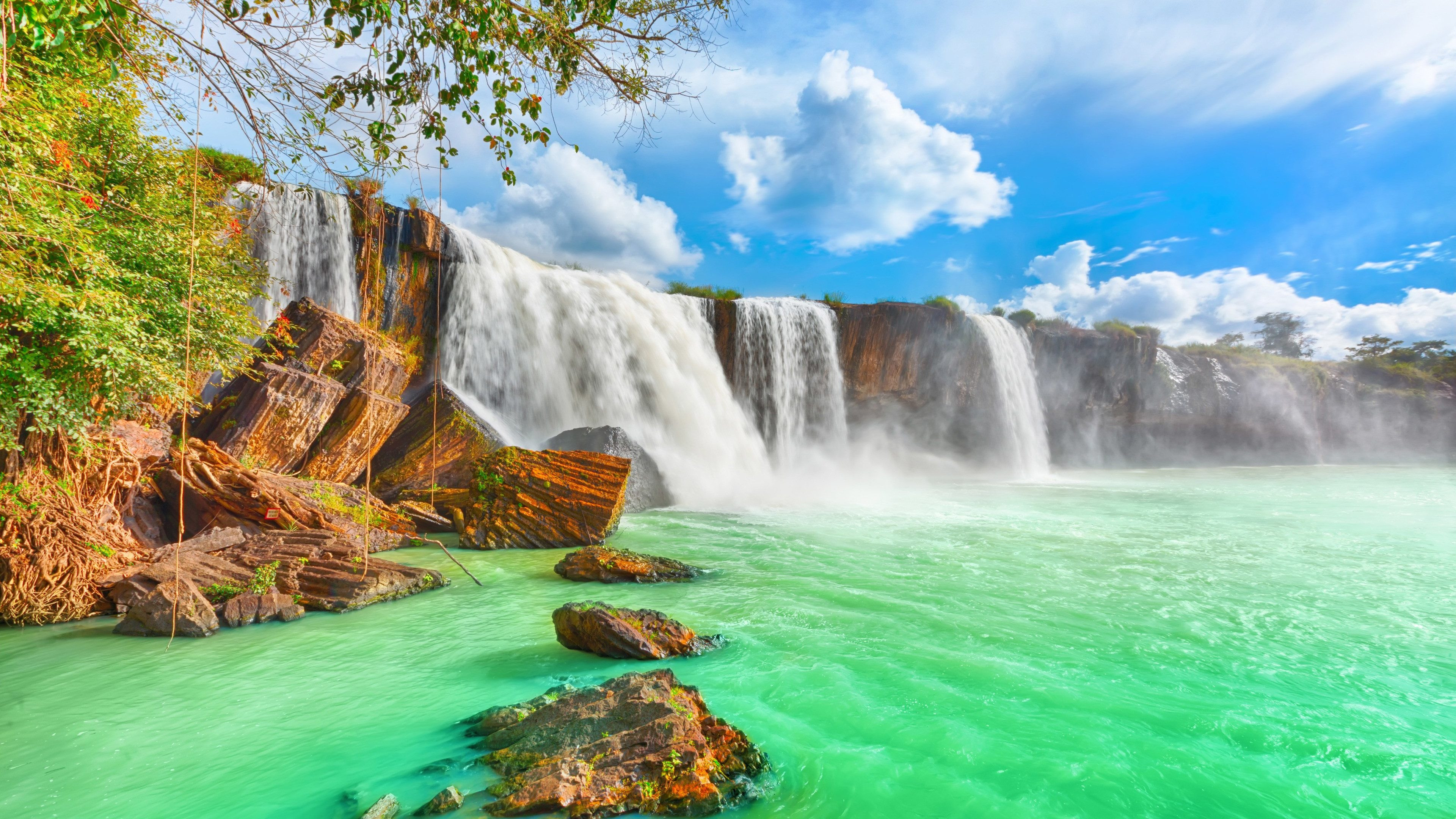 High Quality Vietnam Waterfalls Wallpaper-3840x2160
