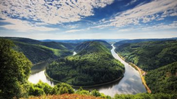 Saar River Wallpaper Meandro del Sarre