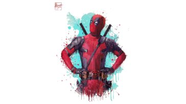 Deadpool 2 Artwork 4K wallpaper HD 3840x2160