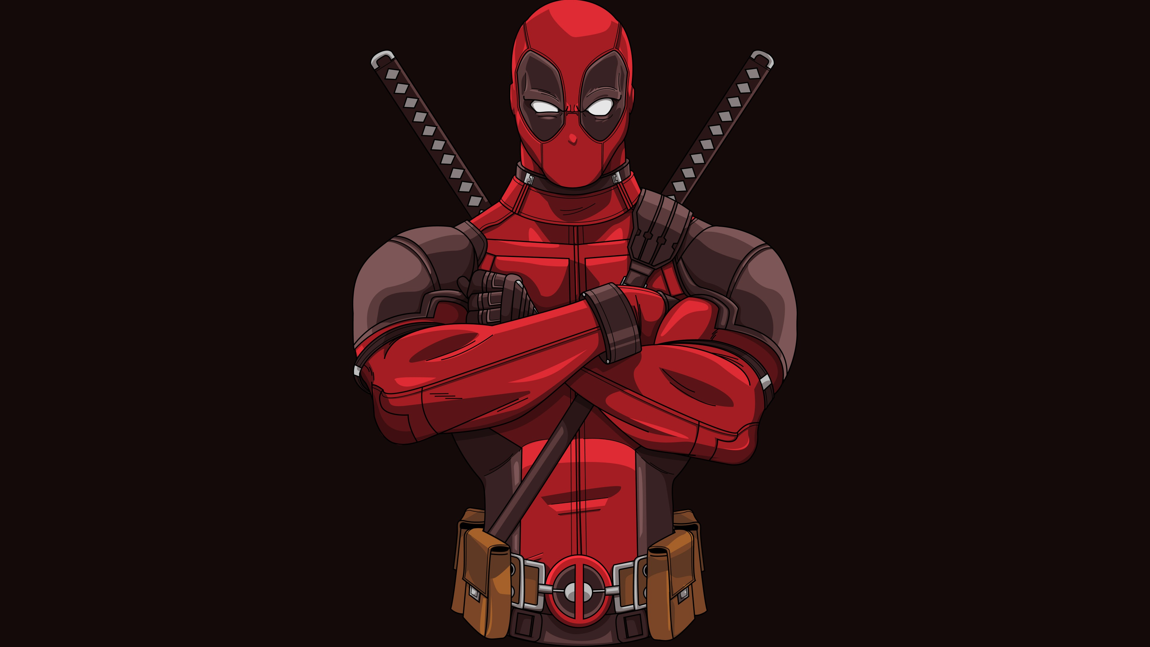 Deadpool Minimal Artwork Desktop Background-3840x2160