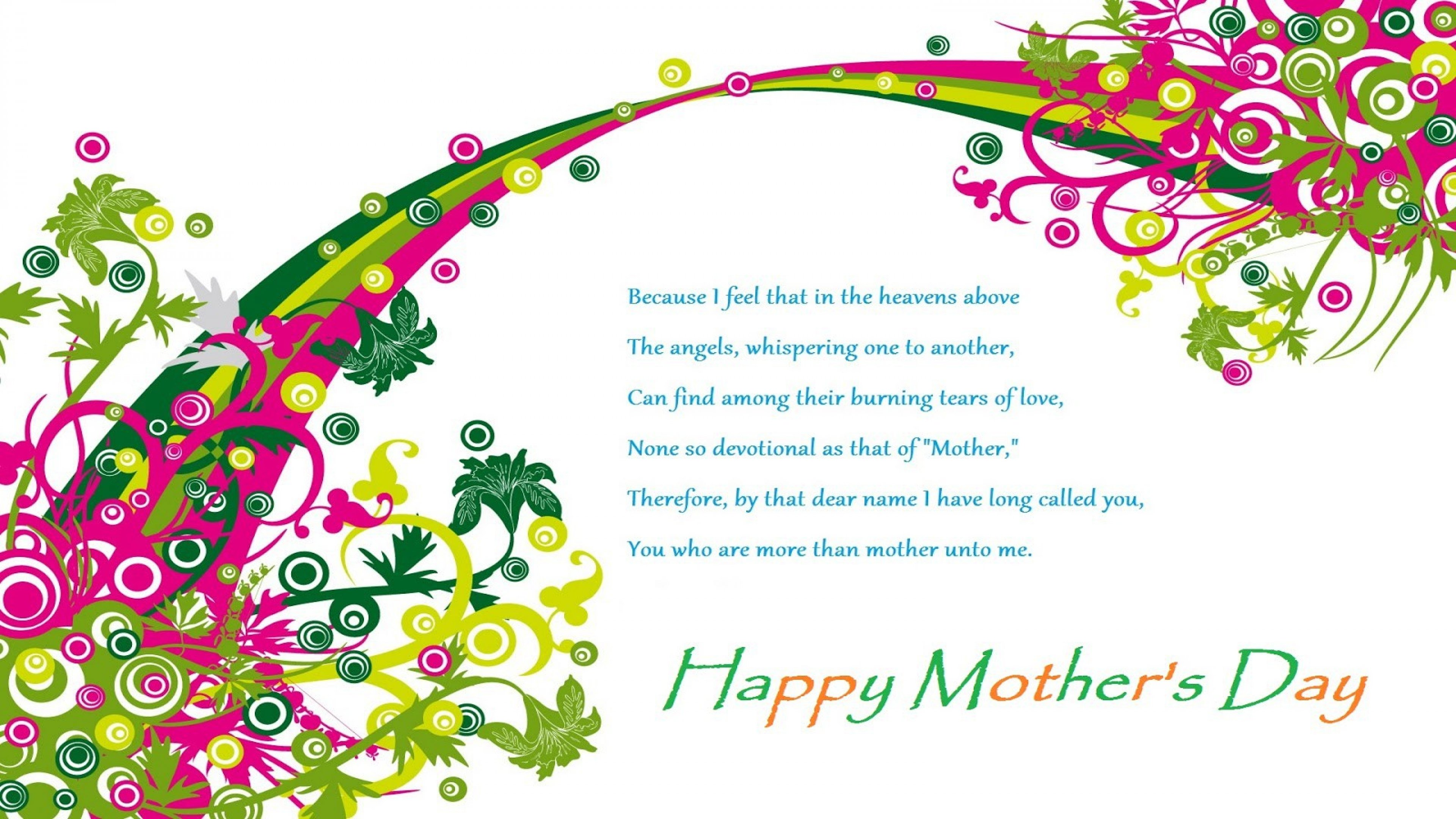 Happy Mother's Day Poem Greetings Image Wallpaper