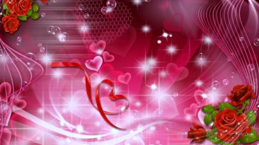 Symbol of Love Romantic Background 4k 3840x2160