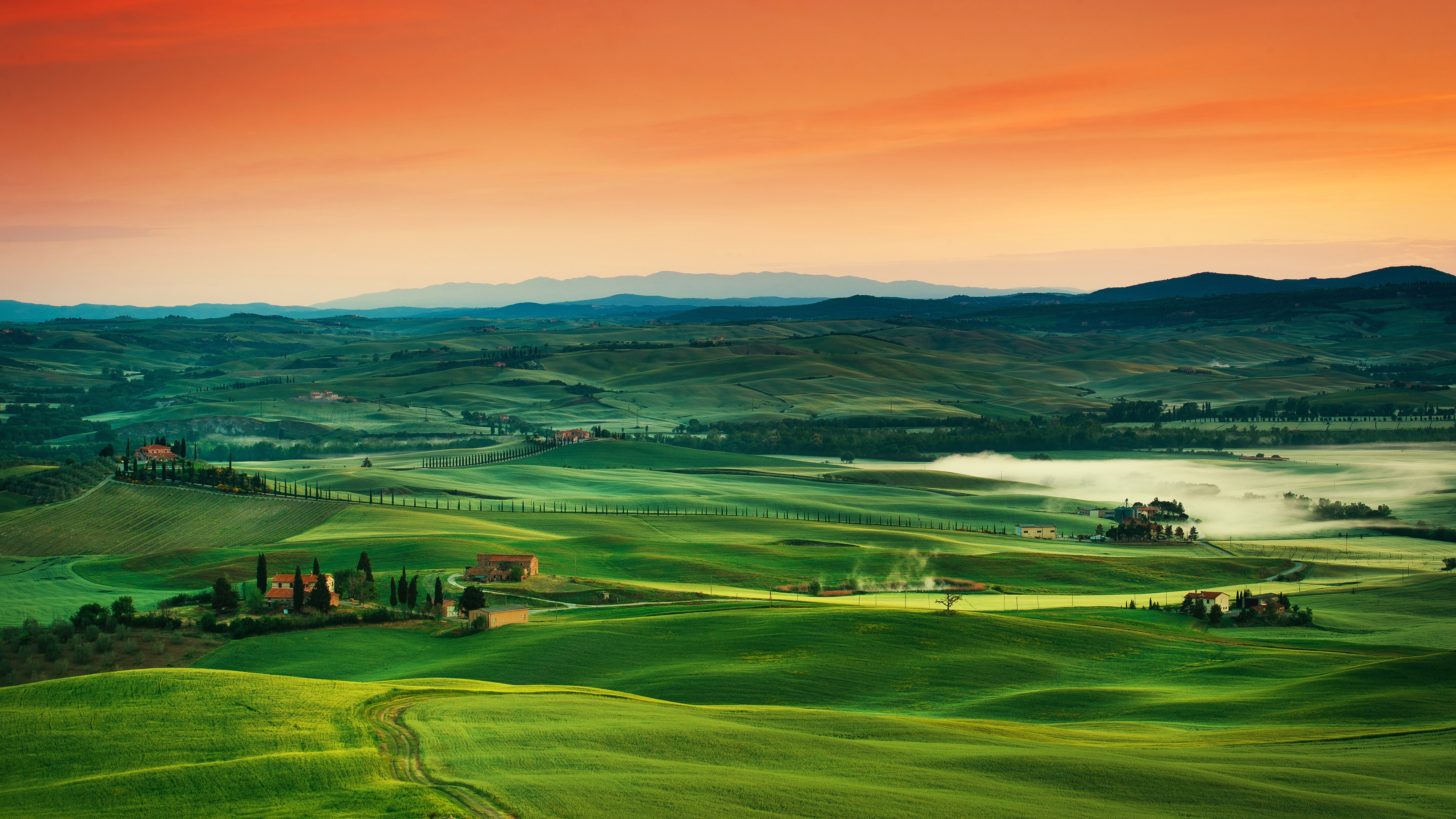 Tuscany Landscape Photography Background 4k 3840x2160