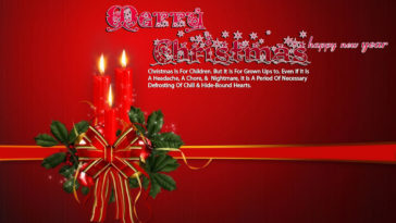Christmas Greetings Card Christmas Candles Wallpaper 3840x2160