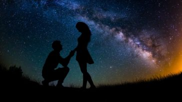 Love Proposal in Milky Way Photo Wallpaper 4k 3840x2160