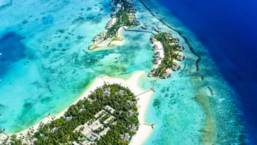 Aerial View Tourist Hotel Islands Beach HD 4k Wallpaper