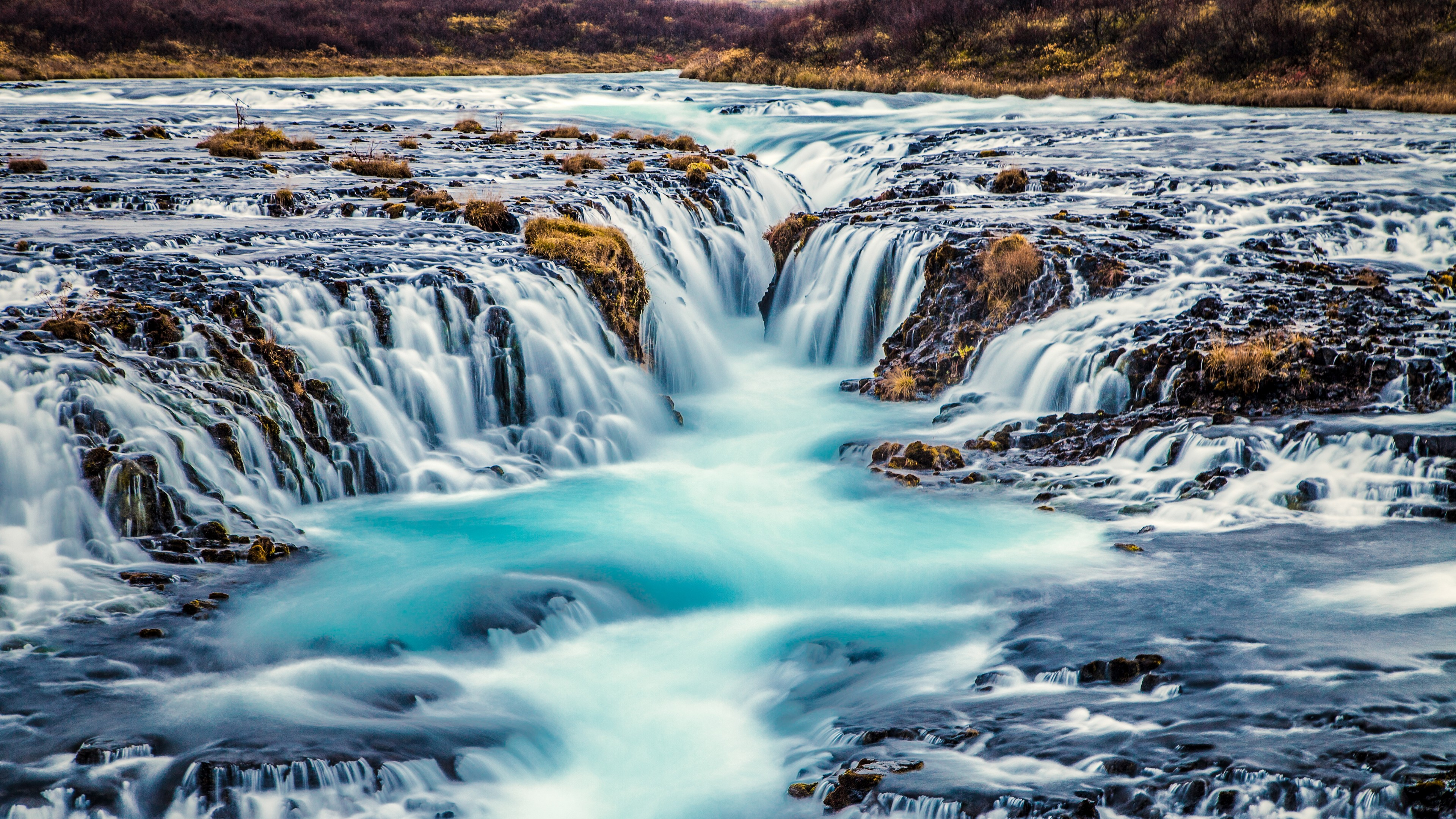 Bruarfoss Waterfall 4K wallpaper 3840x2160