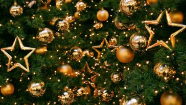 Christmas Gold Decoration HD Wallpaper 3840x2160