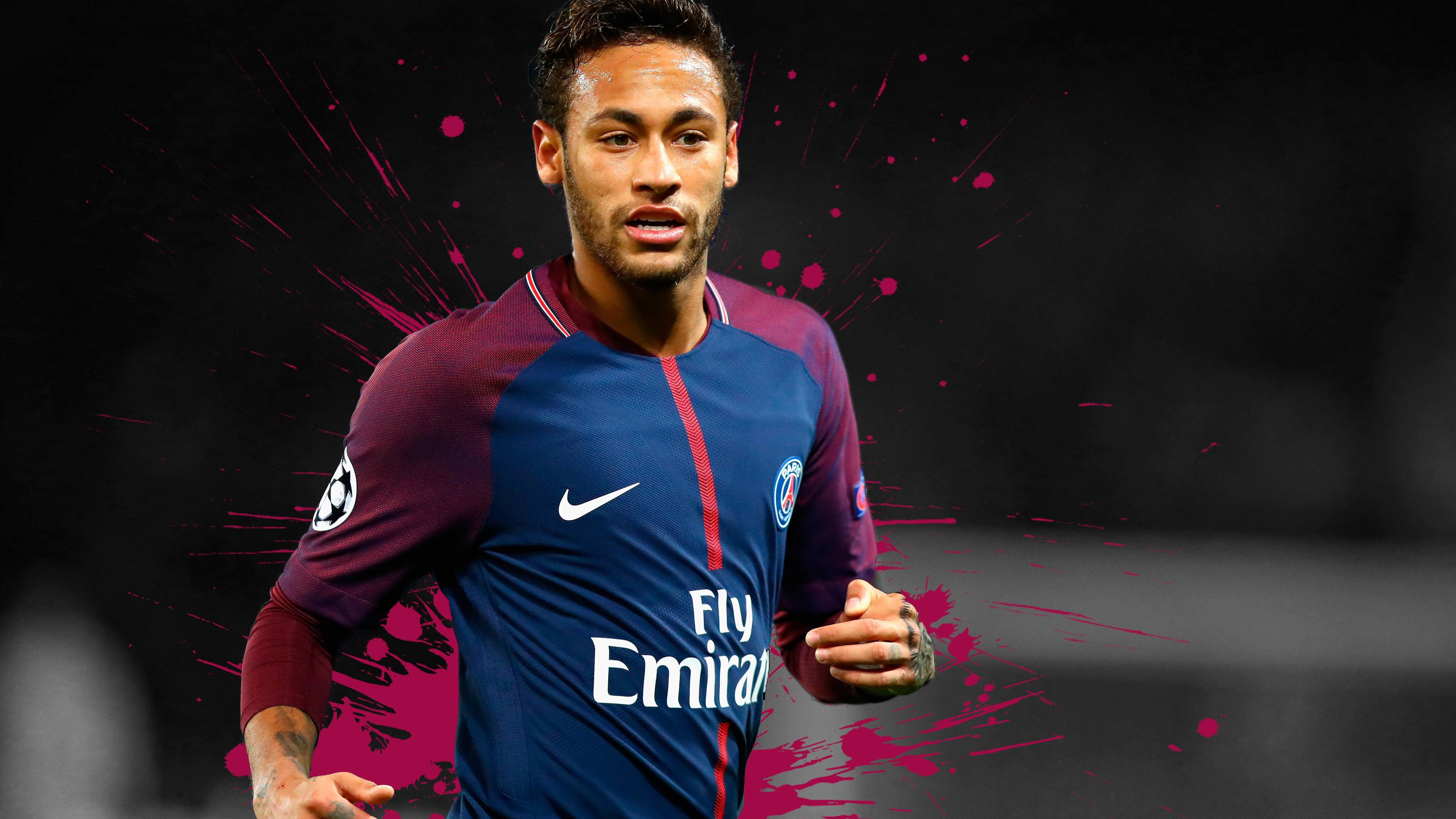 Neymar PSG 4K Wallpaper HD Desktop-3840x2160