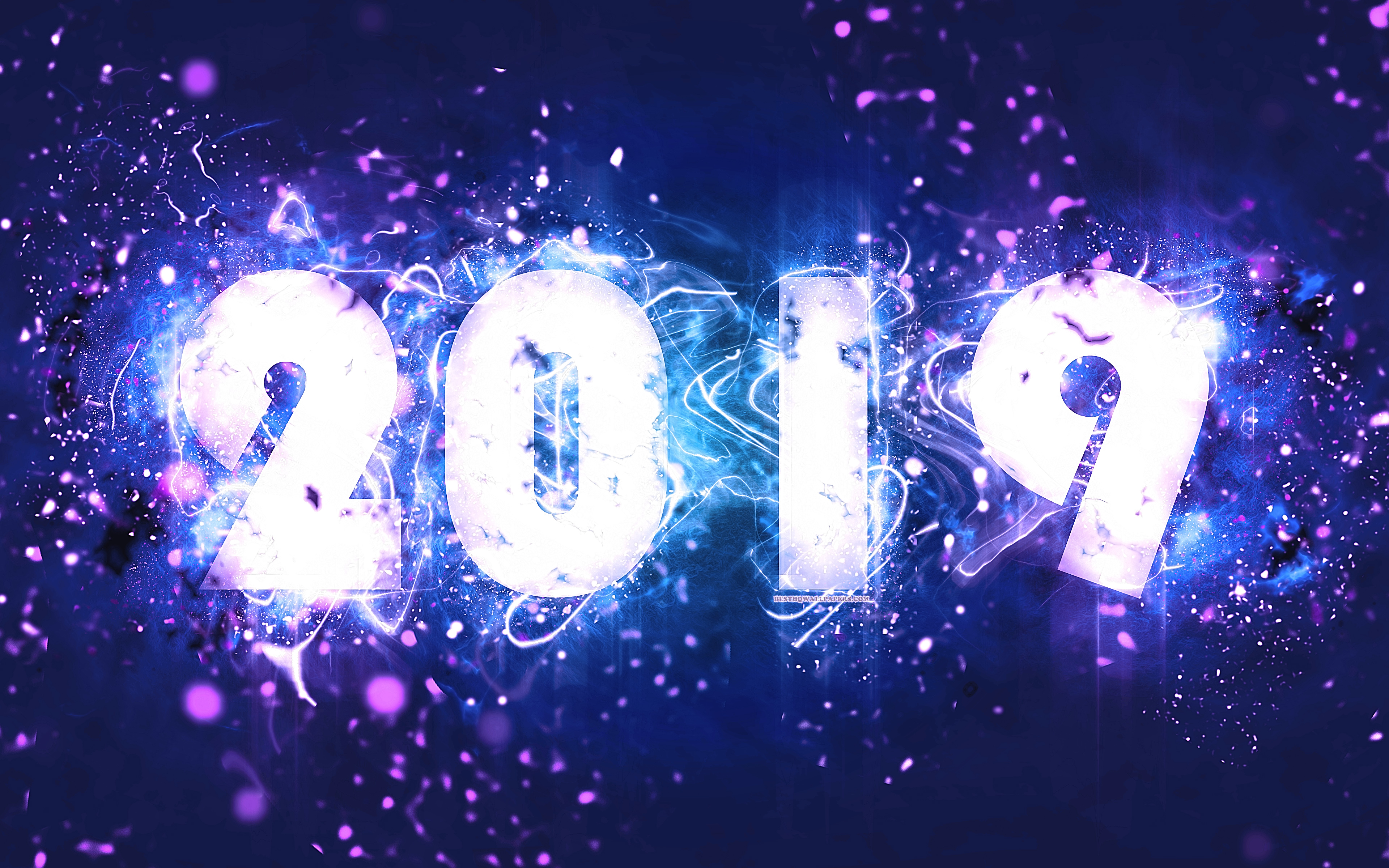 2019 New Year Background 3840x2400