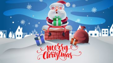 Christmas Cartoon Design 4k Wallpaper