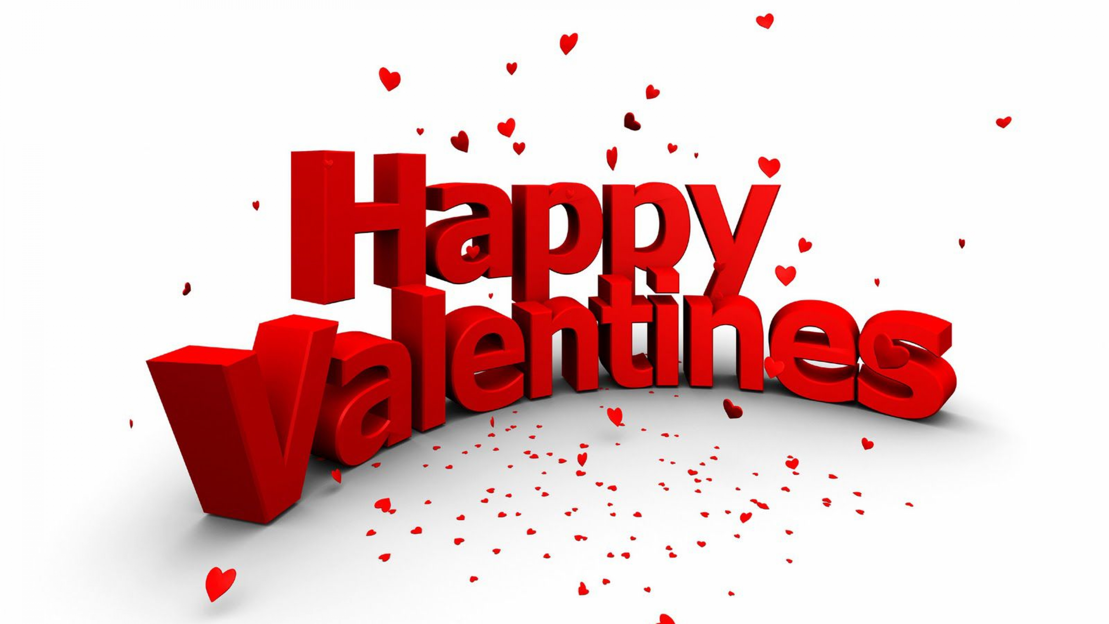 Happy Valentines Wishes HD Image Wallpaper 4k 3840x2160