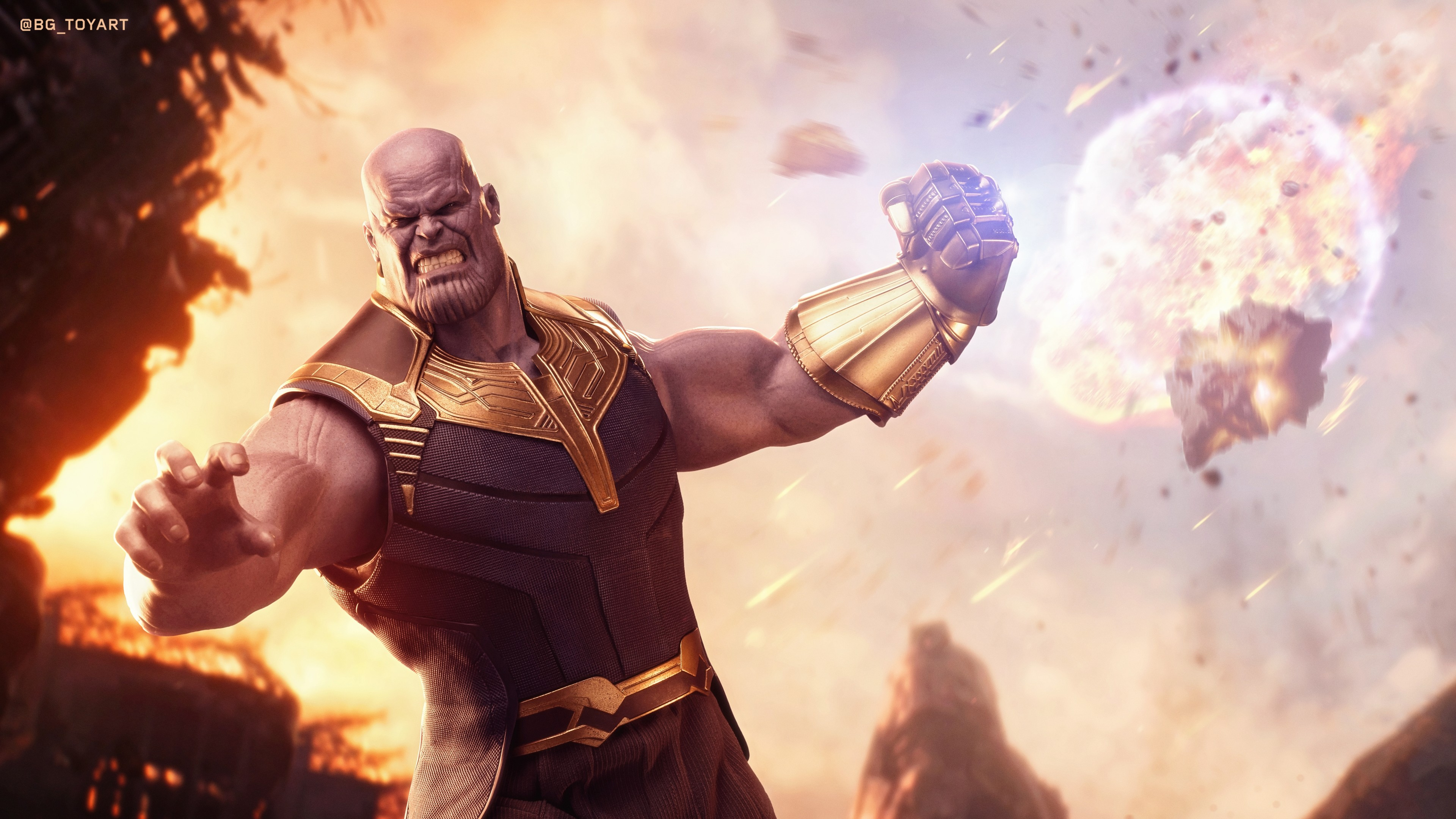 Thanos HD Wallpaper 4K Background
