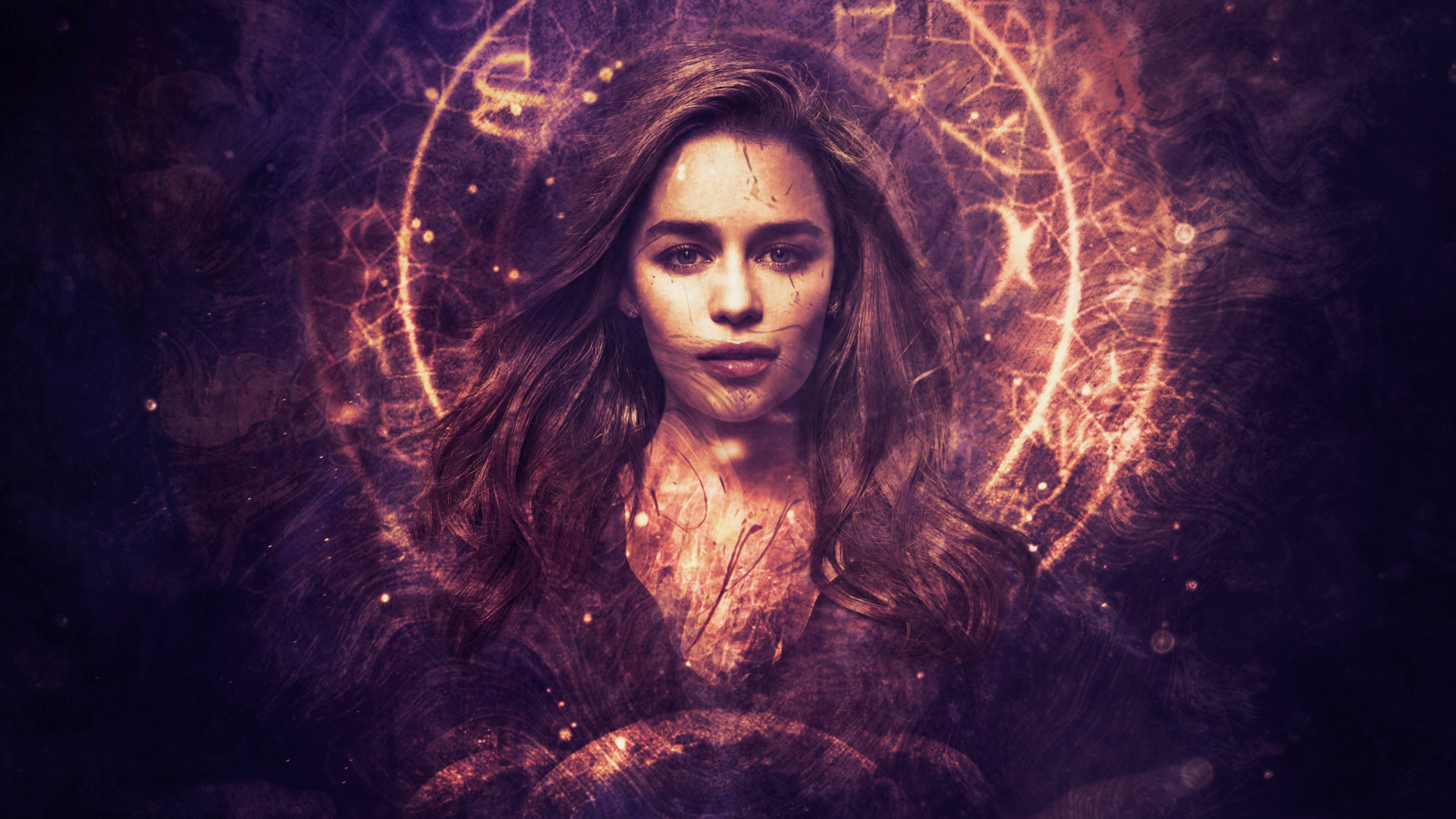 Emilia Clarke Photo Manipulation 4K Wallpaper