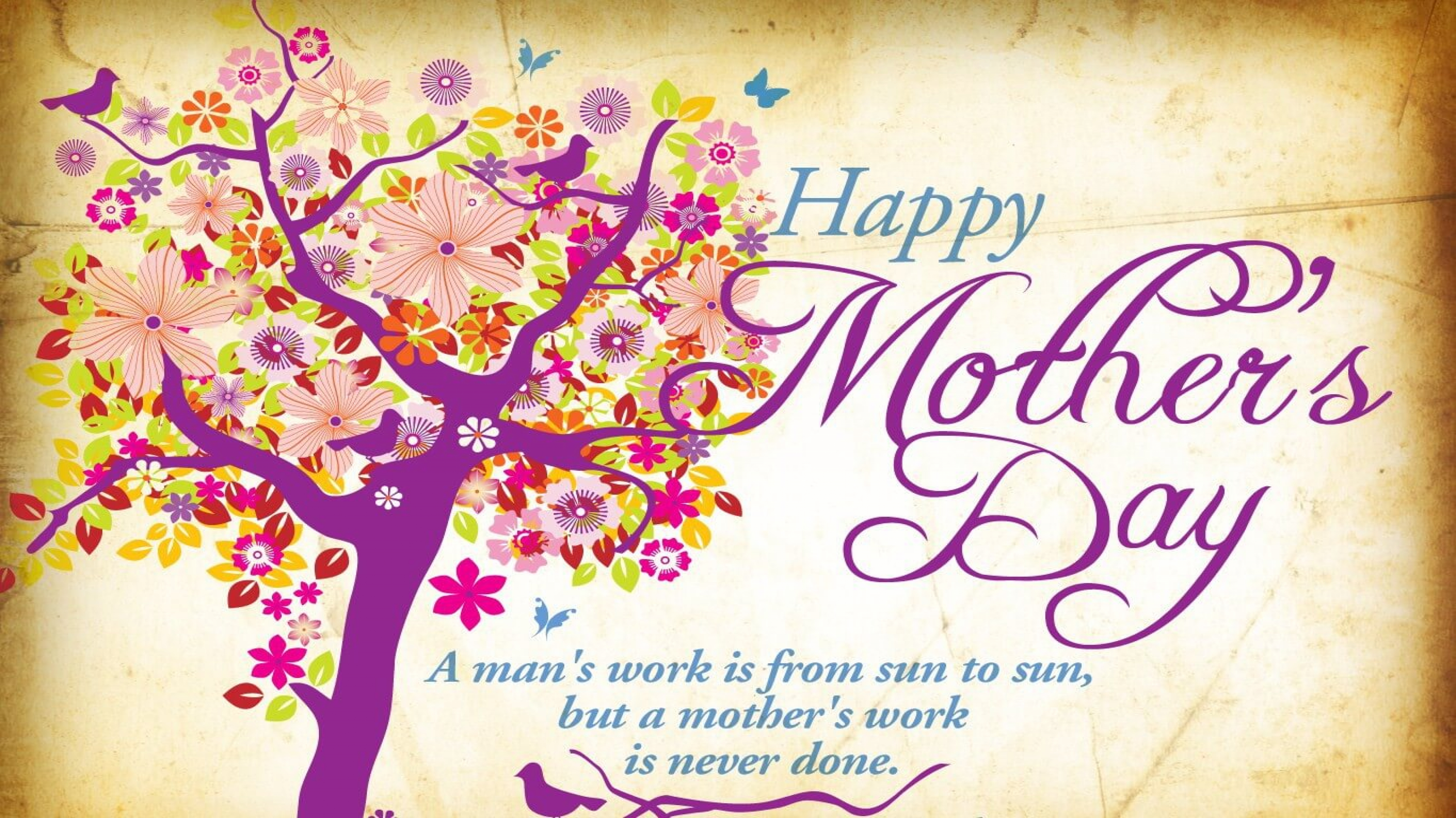 Happy Mothers Day Art Quote 4K Wallpaper HD