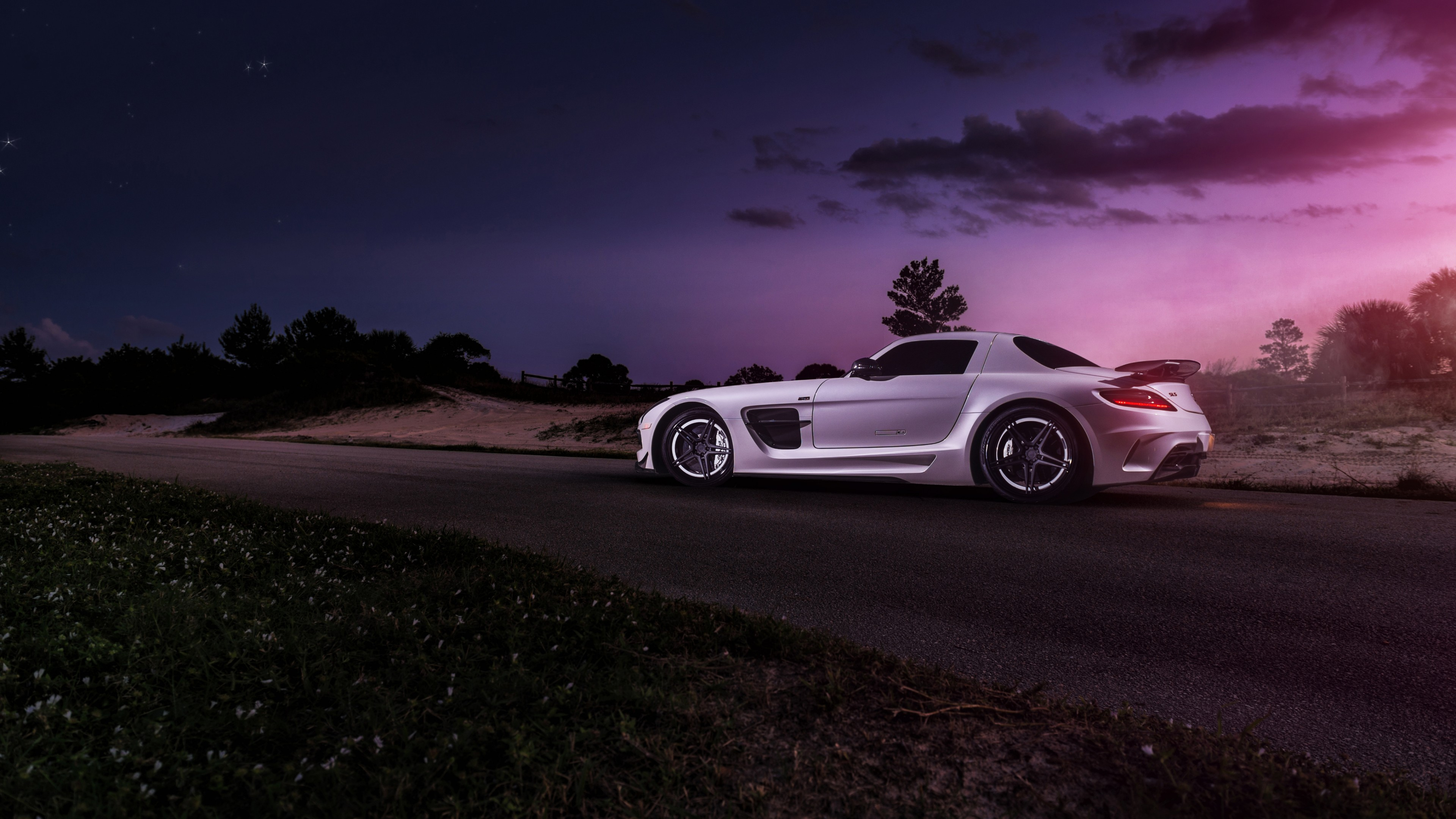 Mercedes-Benz SLS Black Series HD Wallpaper 4K