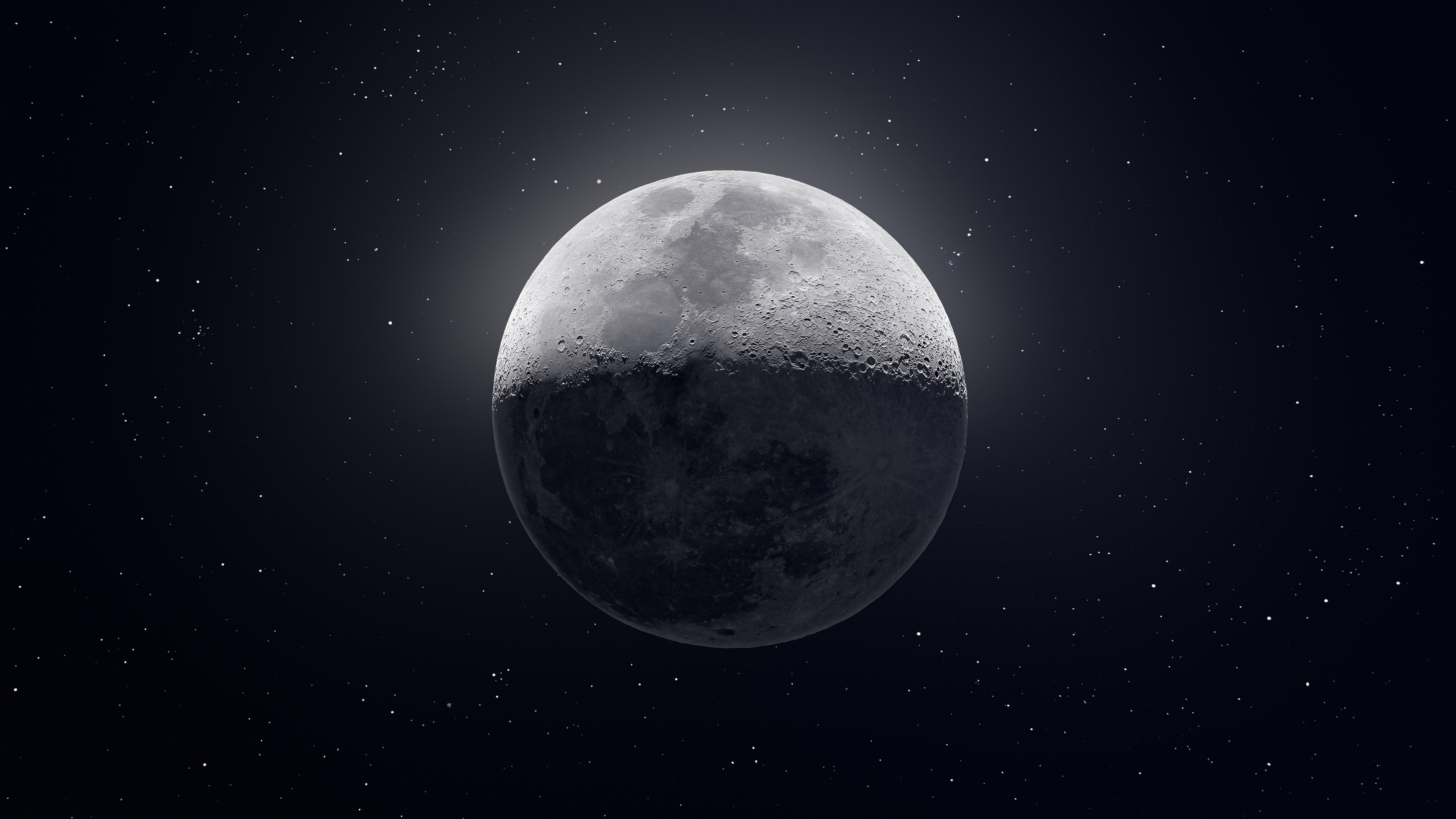 Moon HD Wallpaper 4K for Desktop