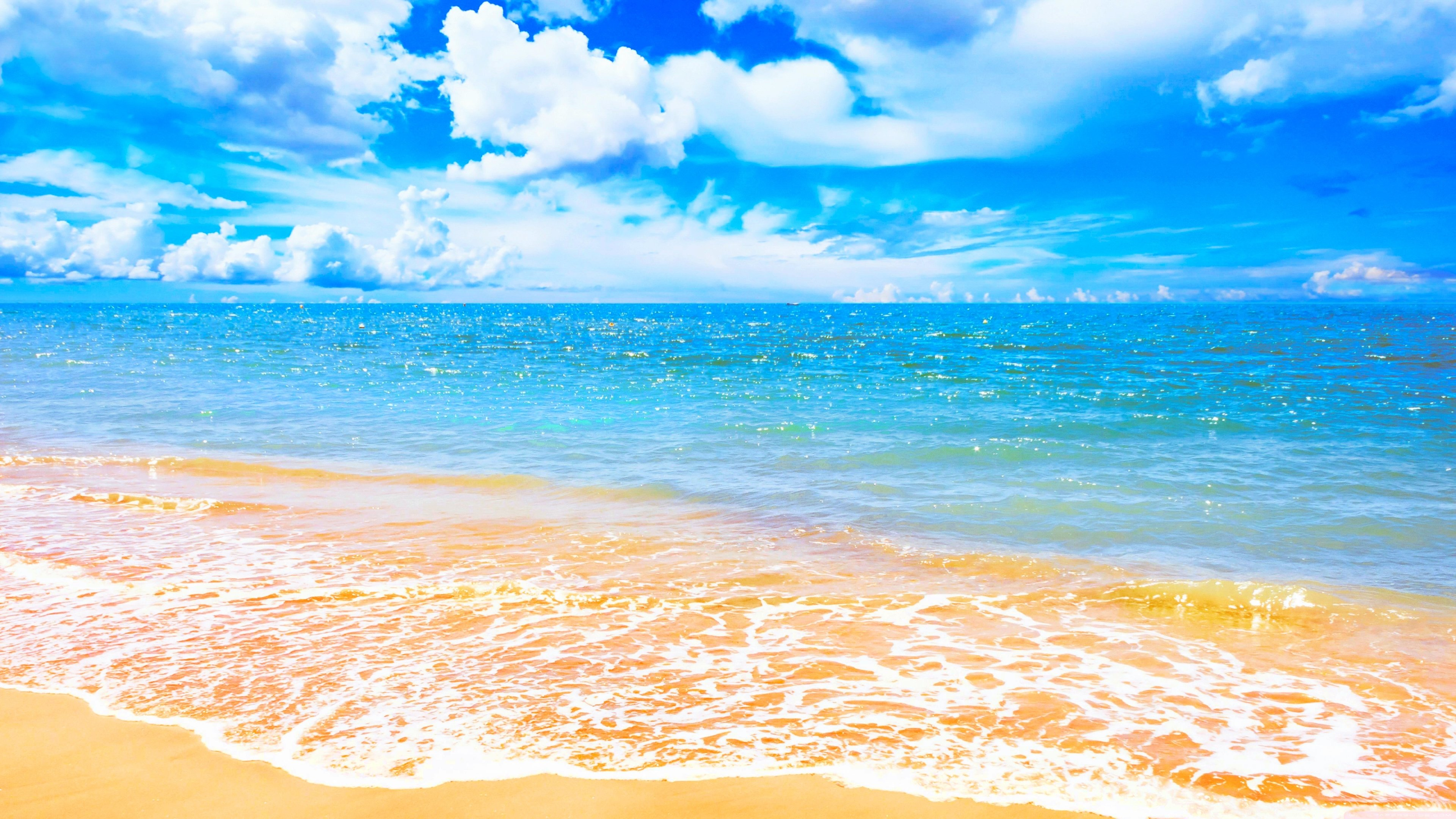 High-Quality Summer Beach Wallpaper 4K Desktop