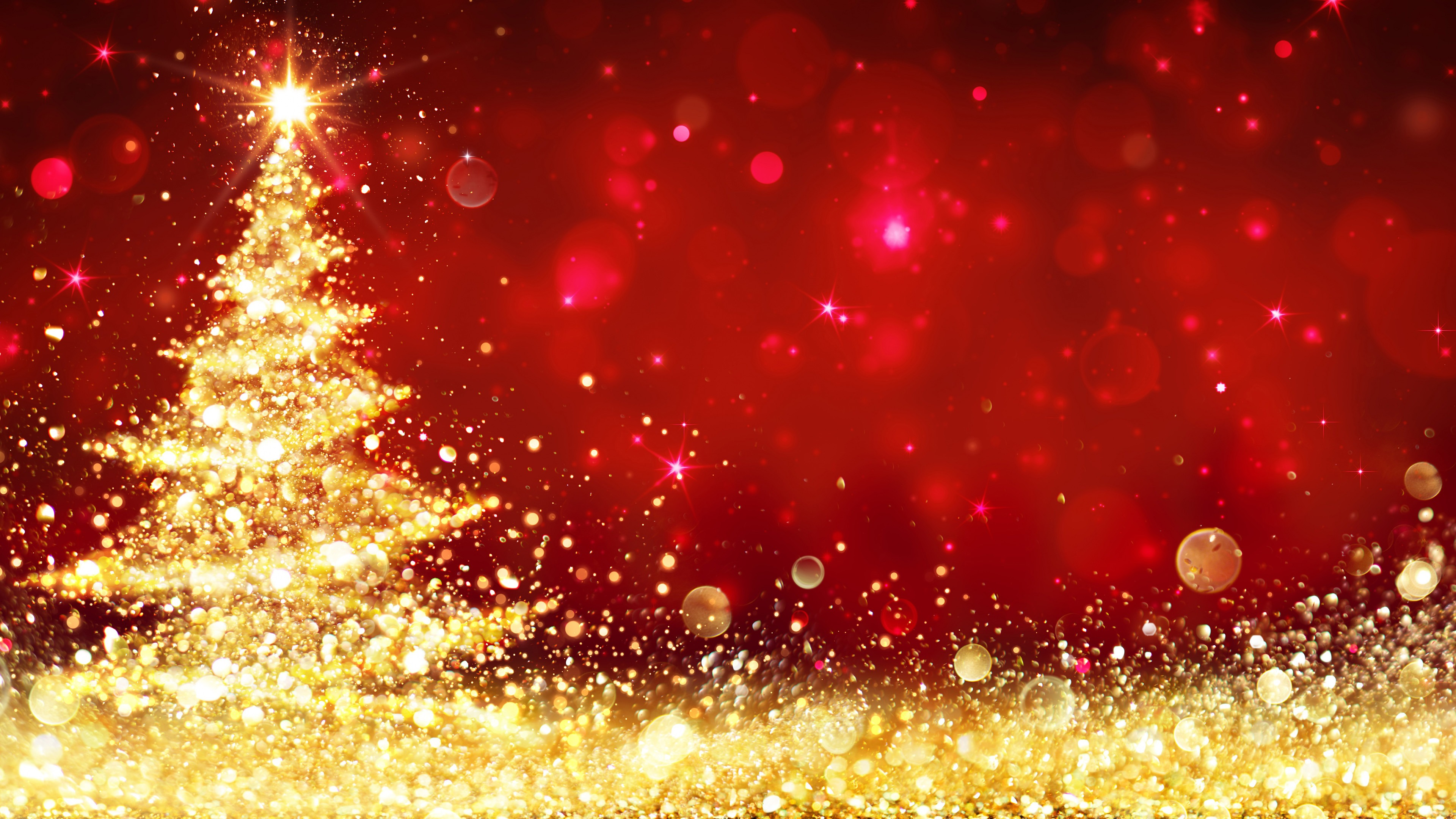 Merry Christmas 4K Desktop HD Wallpaper Background