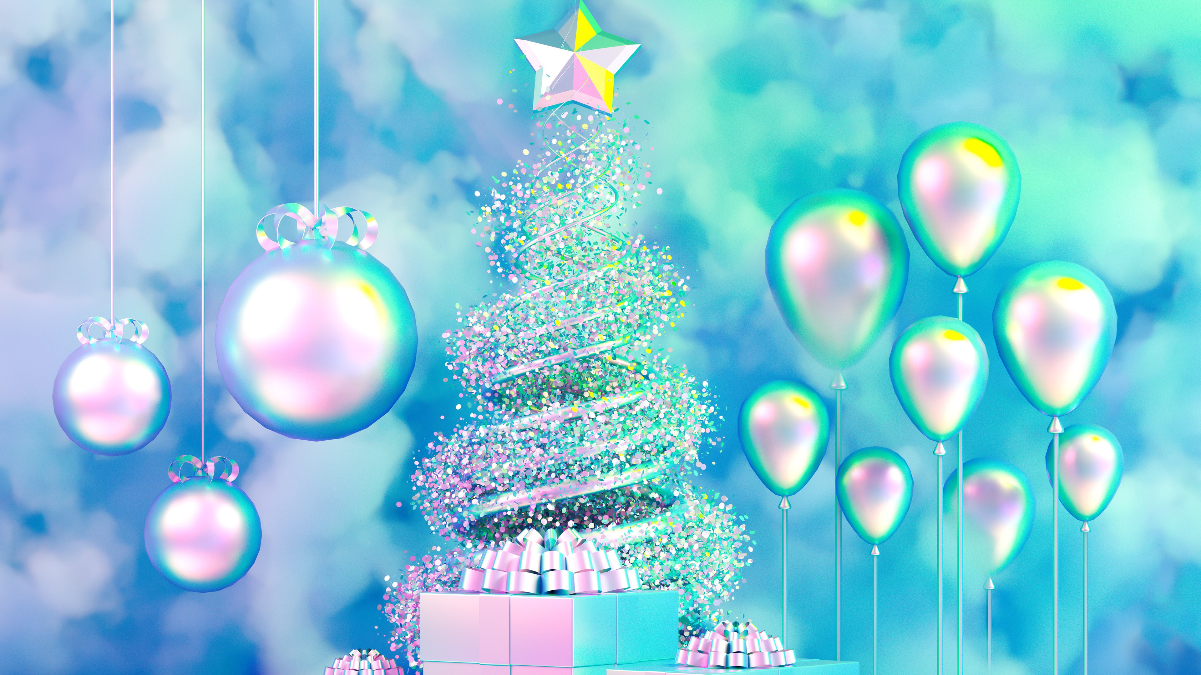 Christmas Tree Desktop Wallpaper 4k Background