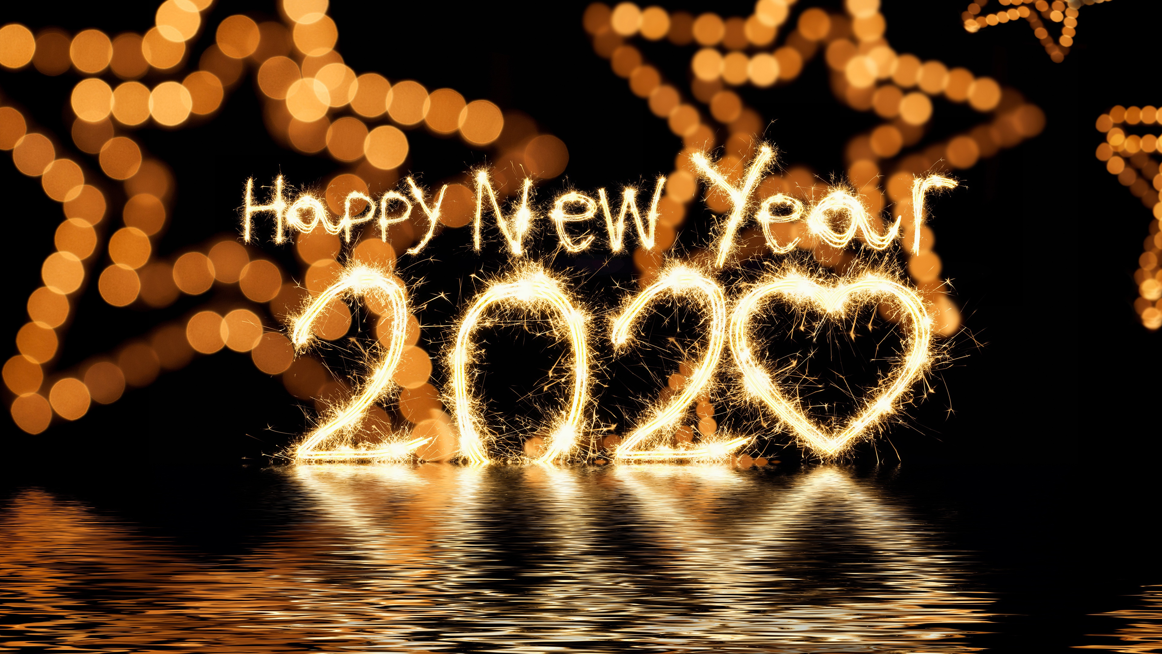 Happy New Year 2020 HD Wallpaper 4k for Desktop