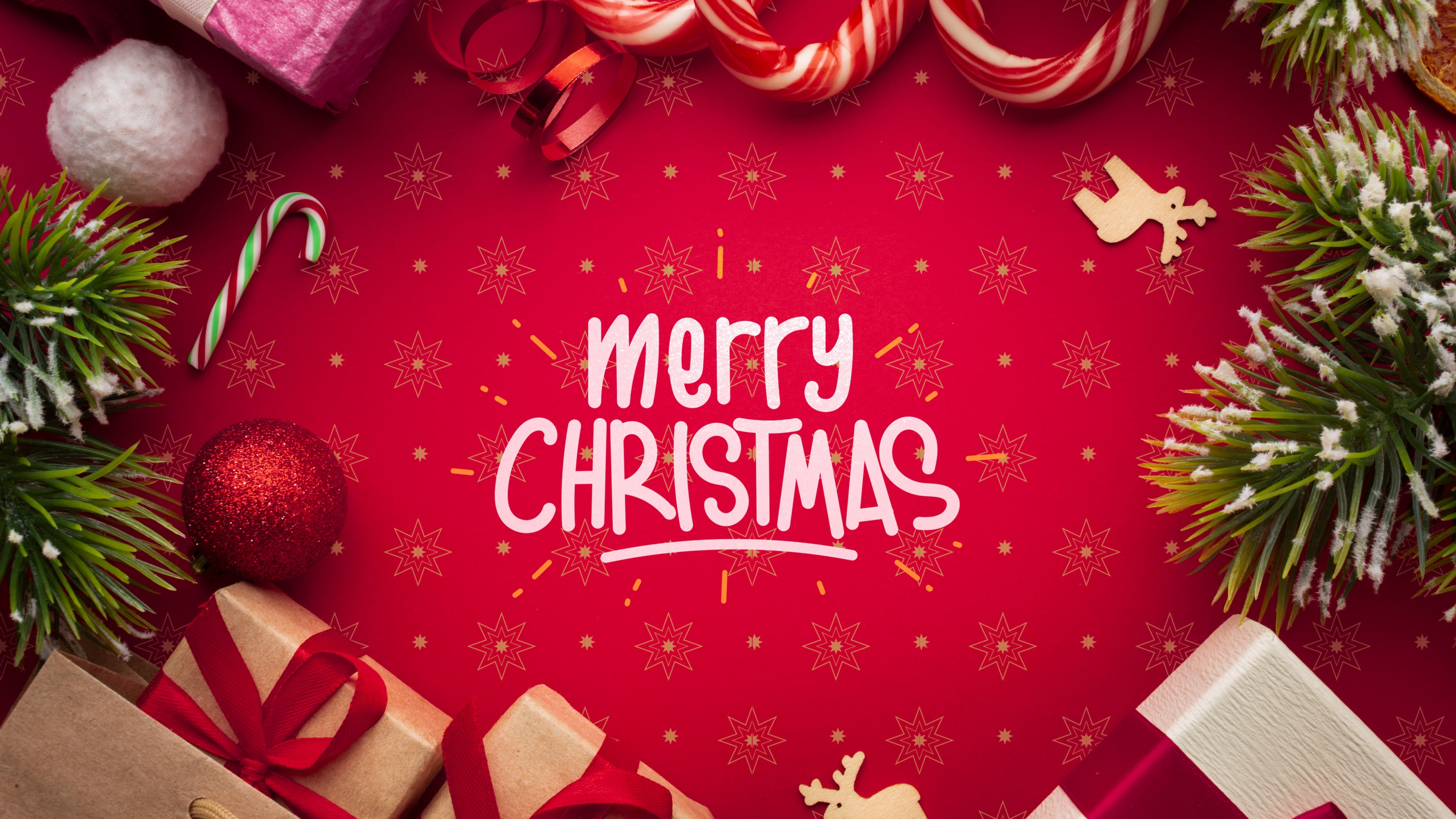 Merry Christmas Wallpaper High Resolution Free Image