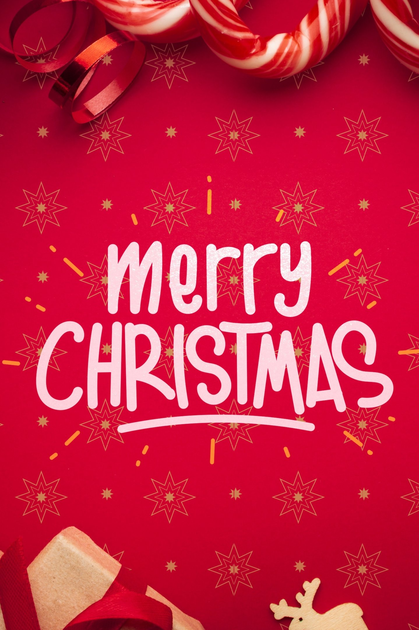 Merry Christmas iPhone Android Smartphone Wallpaper 2160p