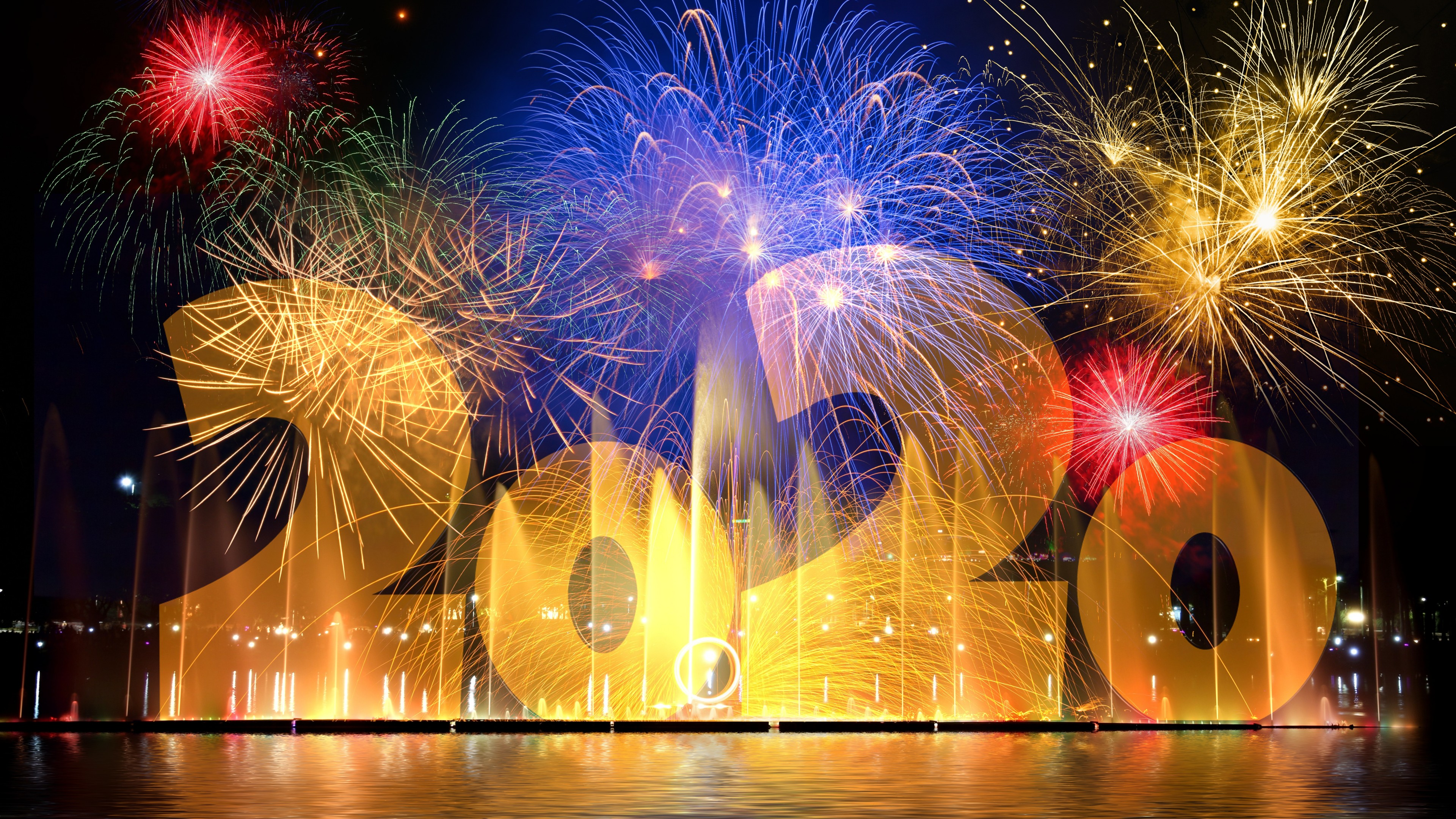 2020 New Year Eve Fireworks Celebration Background