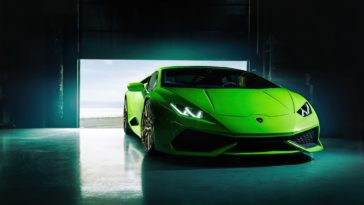 Green Lamborghini Huracan 2020 HD Wallpaper for 4K Desktop
