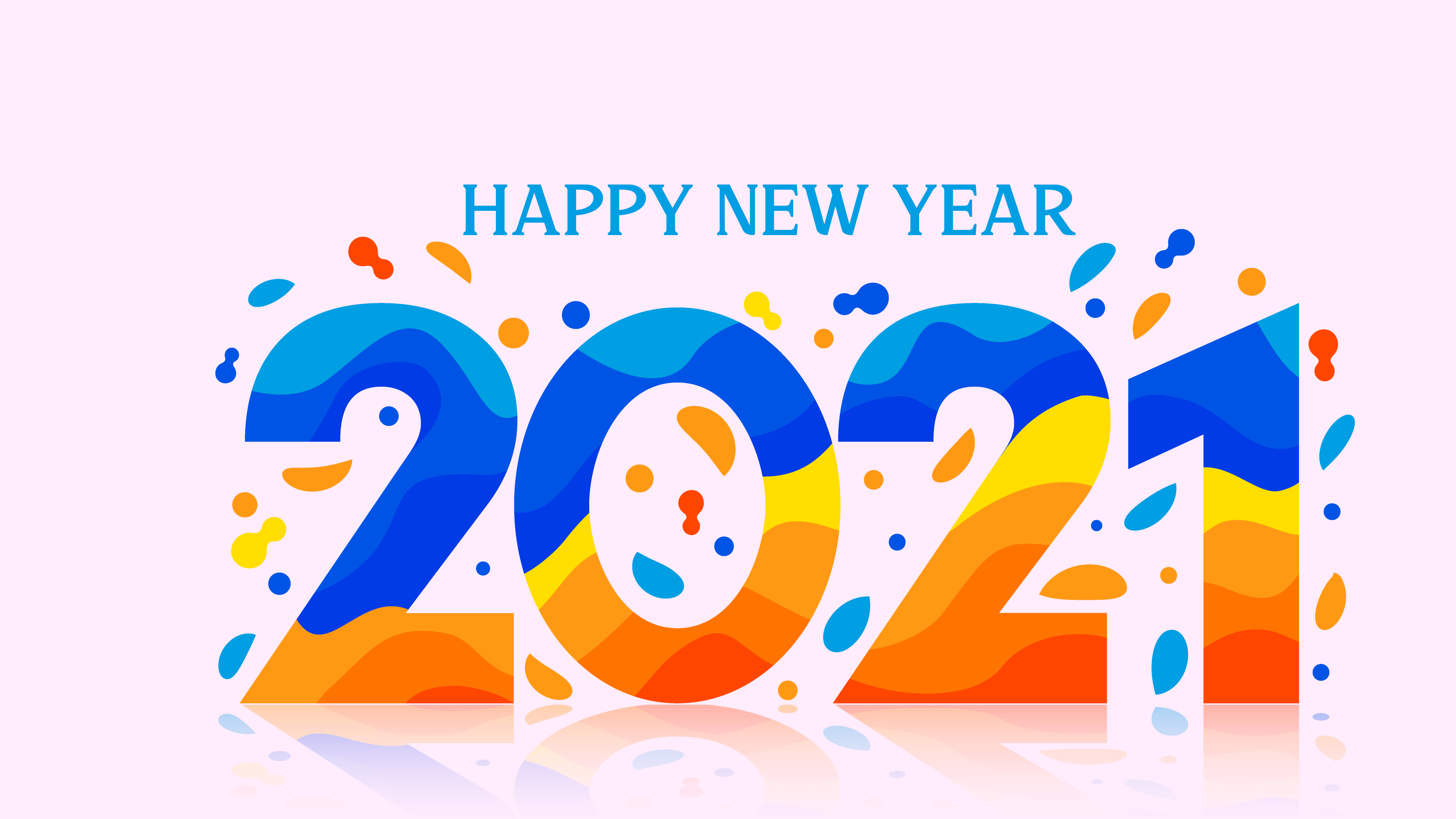 2021 Happy New Year HD Wallpaper 4K